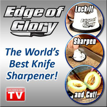 Edge Of Glory Knife Sharpener Creative Sharpeners Kitchen Tools As Seen On TV Kitchen Accessories Best Sharpeners For Knives(China)