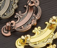 10Pcs/Lot Classical Antique Copper Furniture Cabinet Fitting Shoe & Closet Door Handles And Knob ( C:C:64MM  L:95MM )
