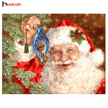 2016 new year home decor diy diamond embroidery square cross-stitch diamond painting Santa Claus needlework gifs 40x30cm(China)