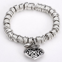 LOVE Gift!4 style Fashion Jewelry Restoring ancient ways charm Bracelets & Bangles wit heart for women best gift(China)