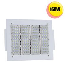 160W gas station LED flood light fixture retrofit 600W HID fluorescent lamp 130lm/W commercial ceiling lights 5000K daylight(China)