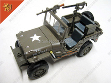 free shipping 2015 1:24 Pull Back Acousto-optic Toys for kids Alloy Antique Car Model Wholesale for Army Jeep Wyllis MB(China)