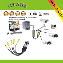 4 Channel USB 2.0 video capture card of DVR CCTV Digital Video Camera Recorder Capture Adapter