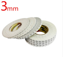 3mm *50M 3M 9080Super Slim & Thin 3MM*50M white Double Sided Adhesive Tape for Mobile Phone Touch Screen/LCD/Display Glass