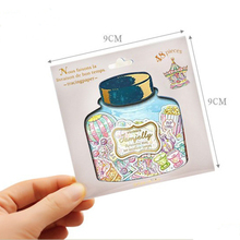 48 pcs/lot new Drift Bottle mini paper sticker bag DIY diary planner decoration sticker album scrapbooking kawaii stationery