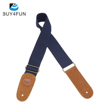 Hot IRIN Adjustable Guitar Belt Woven Cotton Guitar Strap with Leather Ends for Electric Acoustic Folk Guitar Comfortable(China)