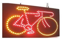 direct selling customized led neon open sign 25*48 CM indoor Ultra Bright Cycling Bike Bicycle business store neon light signage(China)