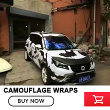 Adhesive Black White Camouflage Vinyl Car Wrap Black White Urban Camo Film With Air Bubble Free Diy Stickerr Foil 1.52x30m/roll