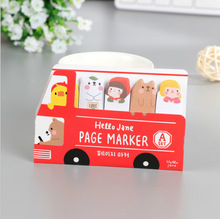 Cute Kids & Animals Bus Memo Note Car Sticker Planner Sticky Note Pad Post It Page Marker Student Award Promotion Gift papelaria