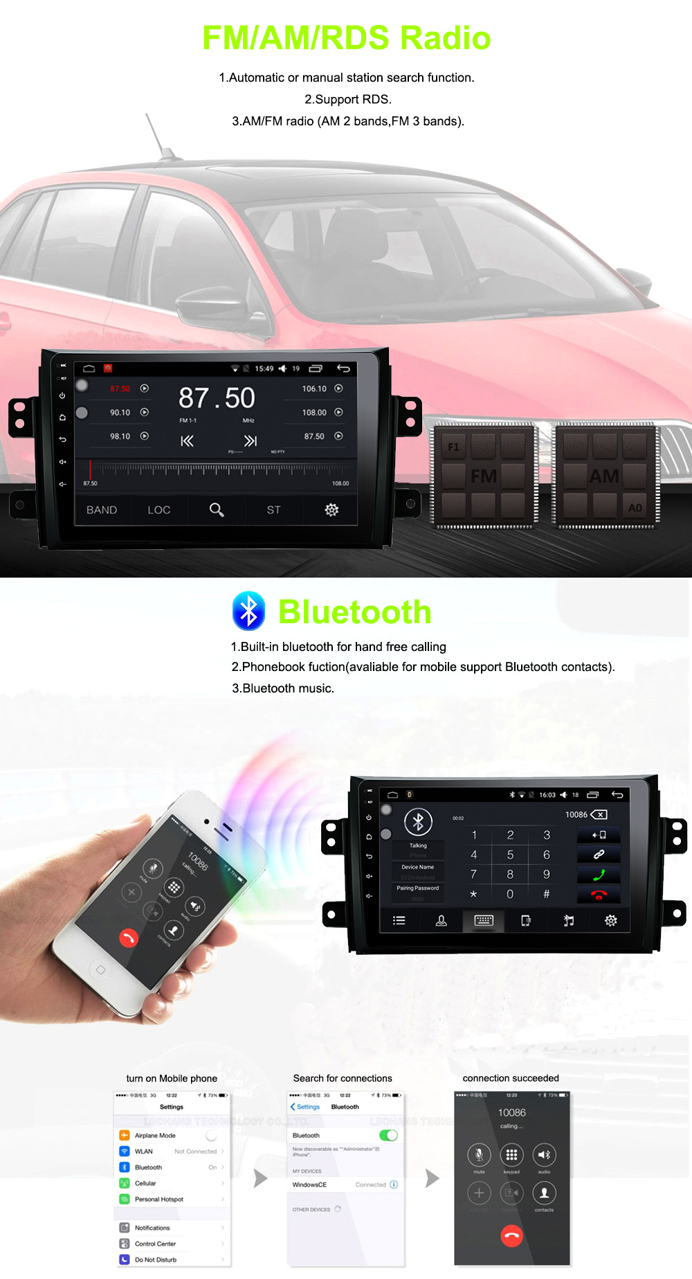 ATY9071 Android 8.1 car dvd for Suzuki SX4 2006 2007 2008 2009 2010 2011 2012 2013 car radio navigation