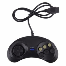 New Six Buttoms Game Handle Command Pad Plastic Accessories Gamepad For Sega Megadrive for Mega drive Deluxe Drive Wonder mega