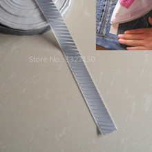 "25mm 1"" Width Stripe DIY Silver Reflective Safety Warning Tape Fabric Heat Transfer Iron On for Clothes Pants Bag(China)"