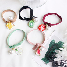 2017 New Fashion Summer Fruit Pearl OL Style Elastics Hair Holders Hair Bands Gum Women Rubber Bands Girl's Tie Hair Accessories(China)