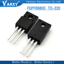 10PCS FQPF6N80C TO-220 6N80C 6N80 TO220 new MOS FET transistor free shipping(China)