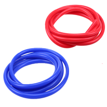 POSSBAY Universal 2m Blue/Red Universal 3mm/4mm/6mm/7mm Auto Car Vacuum Silicone Hose Racing Line Pipe Tube Car-styling