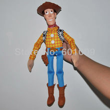 "Free shipping High Quality Soft Plush Toy Story 3 WOODY Plush Dolls Soft Toy New 16"" Wholesale and Retail"