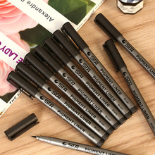 10 pcs/1 Lot Soft Pen Brush Fine Liner Art Marker Black Highlighter For Kids Stationery Copic Markers Art Supplies School