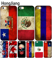 HongJiang slovak mexico canada chile colombia flag cell phone Cover case for iphone 6 4 4s 5 5s SE 5c 6 6s 7 8 plus X(China)