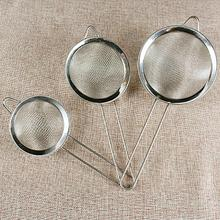 7Sizes New Fine Mesh Stainless Steel Strainer Kitchen Filter Mesh Spoon Fried Food Oil Strainer Clip High Quality Flour Sieve