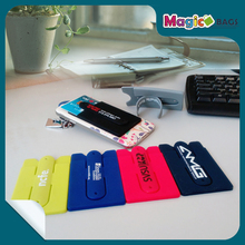 Silicone Credit Card Holder Bus Card Wallet With Strong 3M Sticker Fashion Business Smart ID Card Holder Case