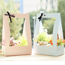 5PCS Hot Sale new portable flower basket conventional version of flowers packaging gift box flower shop upplies shop dedicated(China)