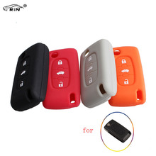 RIN 3Buttons Car Key Silicone Fob Case Cover For Peugeot 208 207 3008 308 408 407 307 206 for CITROEN C2 C3 C4 C81 Car Styling
