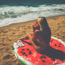 2017 Beach Mat Fashion Watermelon Round Beach Bath Towel Adults Kids And Baby For Picnic Yoga Towel BLANKET Toalha Free-shipping