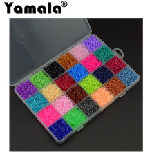 [Yamala]13000Pcs 24 Color Hama Beads 2.6MM Perler Beads DIY Creative Puzzles Tangram Jigsaw Board Educational  Toys Gifts