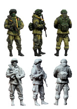 [tuskmodel] 1 35 scale resin model figures kit Modern Russian Soldiers e3