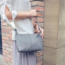 Delicate Naivety 2018 New Women Girls Shoulder Messenger Bag Lady PU Leather Clutch Handbag Purse wholesale Free Shipping(China)