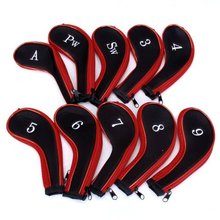 JHO-MECO(TM) 10 Golf Clubs Iron Set Headcovers Head Cover(China)