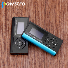 Powstro MP3 Player with Earphone Digital Compact Portable Max 3.7V support 16 GB Micro SD Card 1.8 inch Display TFT Music Player(China)