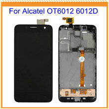 For Alcatel One Touch Idol mini 6012 OT6012 6012D 6012W LCD Screen Display + Touch digitizer with Frame without frame assembly