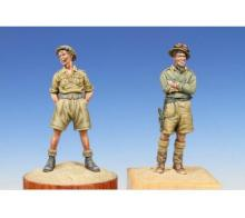 Unpainted Kit 1/35  WW2 North African British 2 People  figure Historical WWII Figure Resin  Kit Free Shipping
