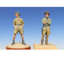 Unpainted Kit 1/35 WW2 North African British 2 People figure Historical WWII Figure Resin Kit Free Shipping(China)