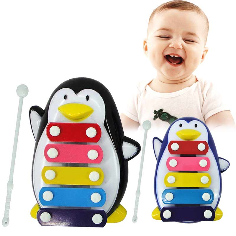 Five-Tone Penguin Piano Music Toy Baby Early Education Musical Instruments Children 's Toys Christmas Gifts @Z239 M09(China (Mainland))