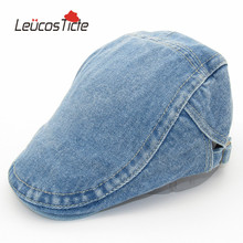 Brand New High Quality Baseball Caps Fashion Denim Retro Men and women Cap Beret Hat Trend Fashion Summer Big(China)