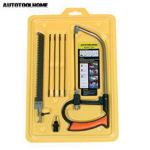 AUTOTOOLHOME 8 in 1 Metal Magic Saw Hacksaw DIY Hand Saw for Wood Woodworking Saws Set Kit with 6 Blades Multi Hobby Tool(China)