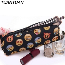 TUANTUAN Large Capacity School Supplies Stationery Cute Emoji Smile face Pencils Bags Cute 3D Plush Pencils Case