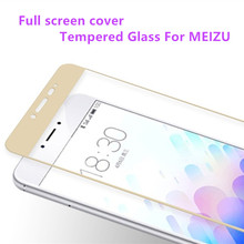 Full screen cover Tempered Glass For Meizu M3S M3 mini Pro 5 Metal Screen Protector Printing Protective Film For Meizu M3 Note(China)