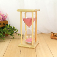 #a 60 minutes of wooden box crystal hourglass timer students creative Valentine's Day gift ornaments