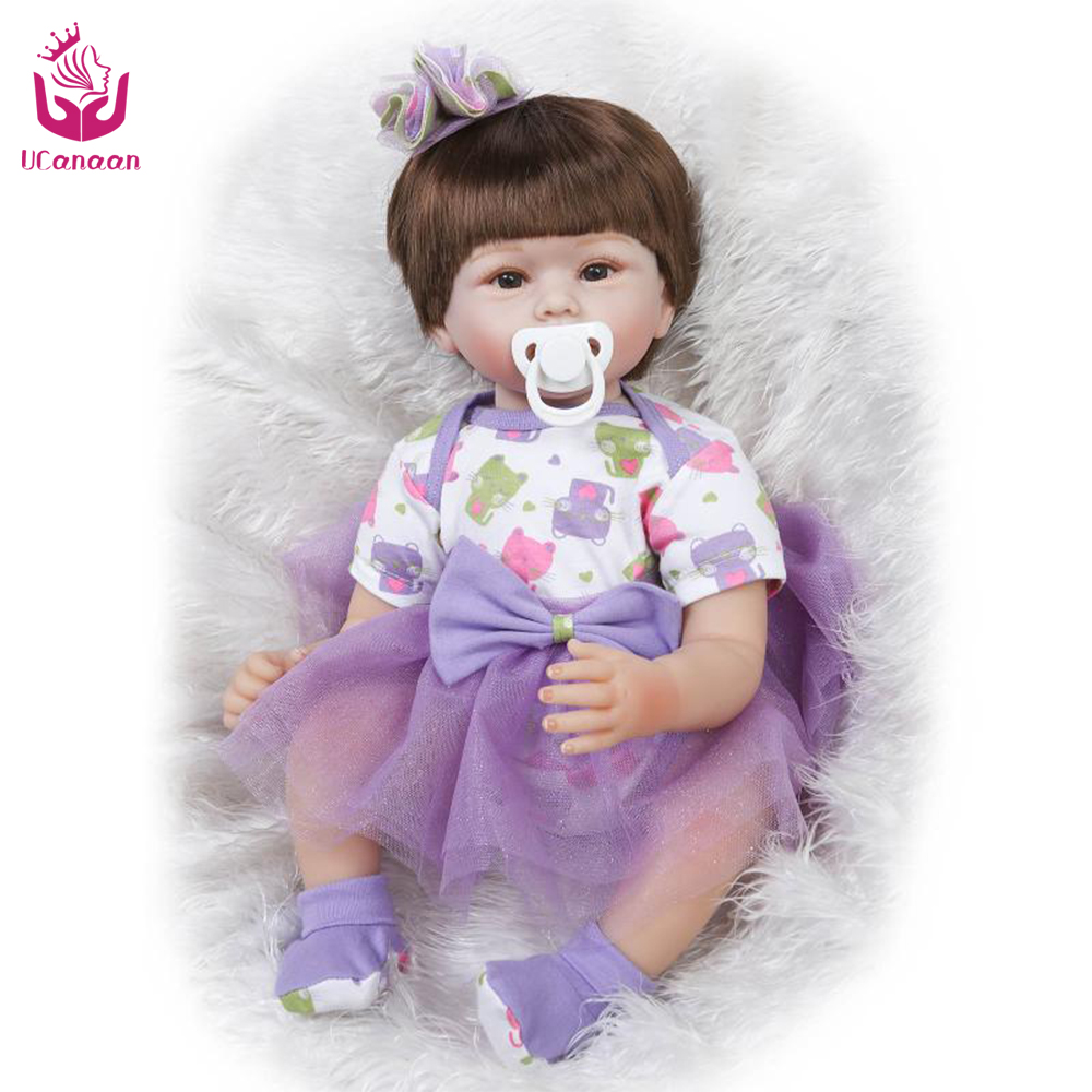 UCanaan New Arrived 50-55cm Cute Silicone Reborn Doll Toys Christmas&amp;Birthday Gift For Babies and Lovely  or Collection <br><br>Aliexpress