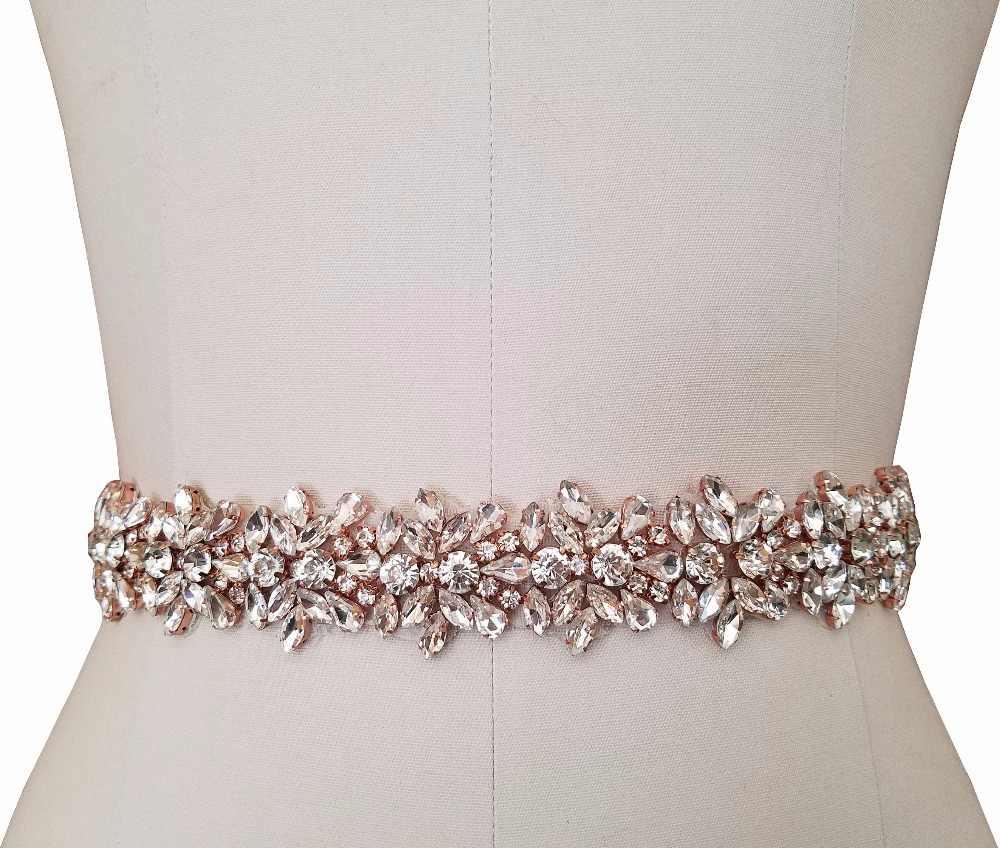 1 yarda de plata oro rosa boda apliques de ajuste de cuentas de cristal  accesorios 6b30fae50fb5
