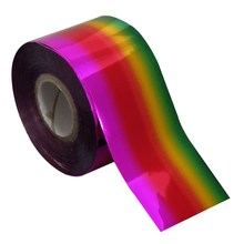 2 Style 100m* 4cm Rainbow Color Nail Transfer Foil Rolls High Quality Universe Nail Full Wraps DIY Materials Wholesale Retail