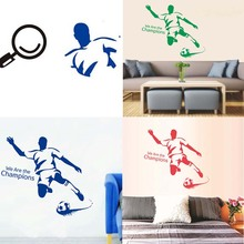 Soccer Football Player Custom Name Vinyl Wall Stickers For Kids Rooms Boys Girls Removable PVC Home Decor Wall Classical Decals