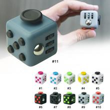 3.3cm Fidget Cube Squeeze Fun Toy Dice Anxiety Attention Anti stress Puzzle Magic Cube Adult Funny 11 Patterns Fidget Spiner Toy(China)