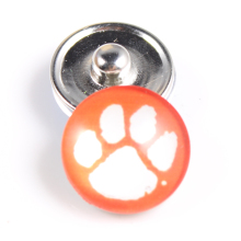 10PCS Clemson Tigers 18mm Glass Snap Button Fit Ginger Snap Bracelet Bangles NCAA Football Baseball Series Jewelry