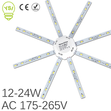 LED Ceiling Lamp 5730SMD 12W 16W 20W 24W LED Lamp Octopus Light 220V LED PCB Board Light Source Energy Saving Indoor Lighting(China)