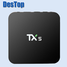 2pcs tv box android TX5 Android6.0 Amlogic S905X Quad core 2G/8G KD 16.1 Pre-installed Google Play Set Top Box 4K 3D mini pc TX5
