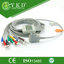 EKG Cable 10 Leads for M1770A ecg machine,AHA, Banana 4.0,10K resistance